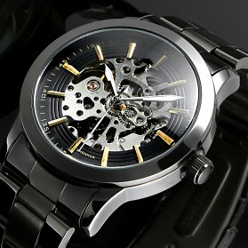 ESS Jam Tangan Mechanical - WM414 - Silver Black - 3