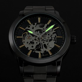 ESS Jam Tangan Mechanical - WM414 - Silver Black - 7