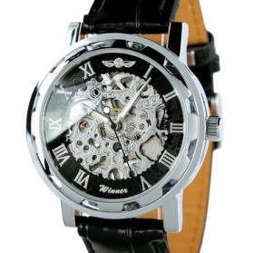 ESS Jam Tangan Mechanical - WM125 - Black/Silver