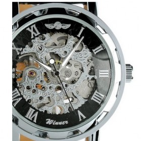 ESS Jam Tangan Mechanical - WM125 - Black/Silver - 2