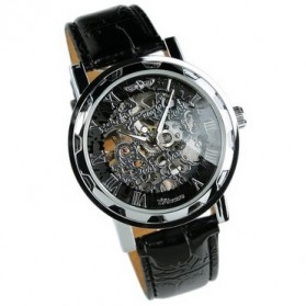 ESS Jam Tangan Mechanical - WM125 - Black/Silver - 4