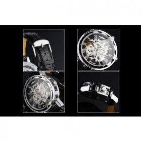 ESS Jam Tangan Mechanical - WM125 - Black/Silver - 8
