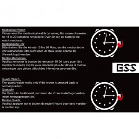 ESS Jam Tangan Mechanical - WM125 - Black/Silver - 9