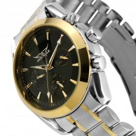 ESS Luxury Men Stainless Steel Automatic Mechanical Watch - WM198 - Silver Black - 3