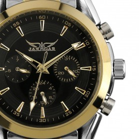 ESS Luxury Men Stainless Steel Automatic Mechanical Watch - WM198 - Silver Black - 4