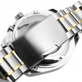 ESS Luxury Men Stainless Steel Automatic Mechanical Watch - WM198 - Silver Black - 5