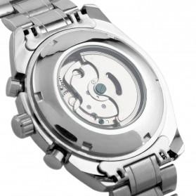 ESS Luxury Men Stainless Steel Automatic Mechanical Watch - WM198 - Silver Black - 6