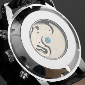 ESS Luxury Men Leather Strap Automatic Mechanical Watch - WM261 - Black/Silver - 6