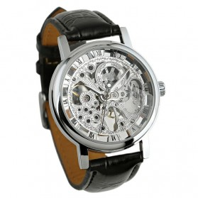 ESS Jam Tangan Mechanical - WM119 - Silver Black - 2