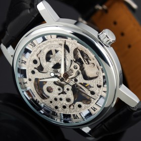 ESS Jam Tangan Mechanical - WM119 - Silver Black - 3