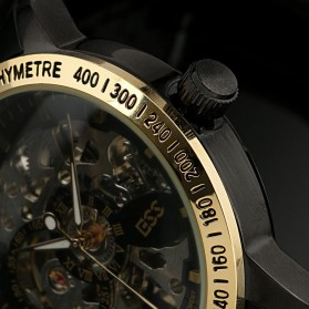 ESS Skeleton Stainless Steel Automatic Mechanical Watch - WM399 - Black Gold - 3