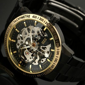 ESS Skeleton Stainless Steel Automatic Mechanical Watch - WM399 - Black Gold - 4