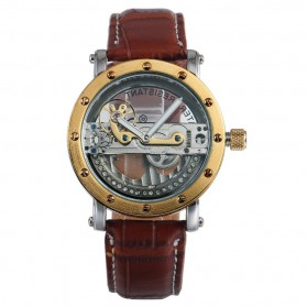 ESS Jam Tangan Mechanical - WM455 - Brown/Gold