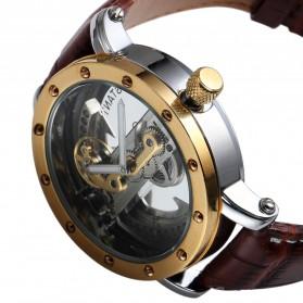 ESS Jam Tangan Mechanical - WM455 - Brown/Gold - 3