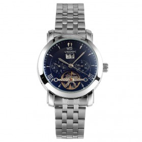 ESS Luxury Men Stainless Steel Automatic Mechanical Watch - WM449 - Silver