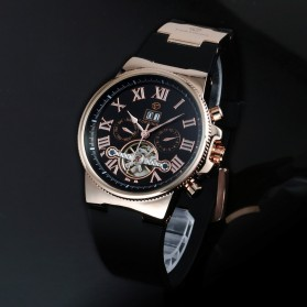 ESS Jam Tangan Mechanical - WM443/447 - Black Gold