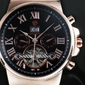 ESS Jam Tangan Mechanical - WM443/447 - Black Gold - 3