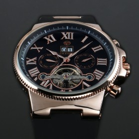 ESS Jam Tangan Mechanical - WM443/447 - Black Gold - 4