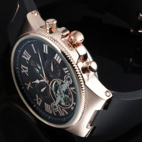 ESS Jam Tangan Mechanical - WM443/447 - Black Gold - 5