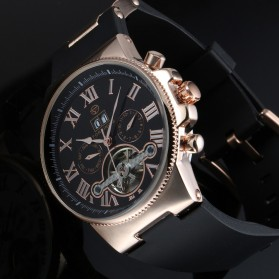ESS Jam Tangan Mechanical - WM443/447 - Black Gold - 6
