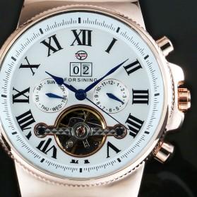 ESS Jam Tangan Mechanical - WM443/447 - Black White - 3