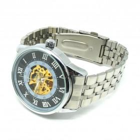 ESS Jam Tangan Mechanical - WM479/480 - Silver Black - 2