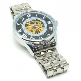 ESS Jam Tangan Mechanical - WM479/480 - Silver Black - 3