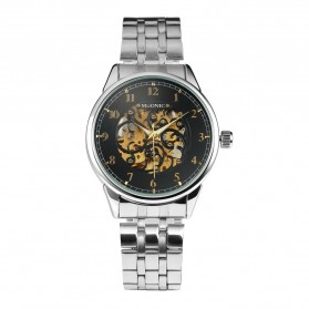 ESS Jam Tangan Mechanical - WM477/478 - Black/Silver - 1
