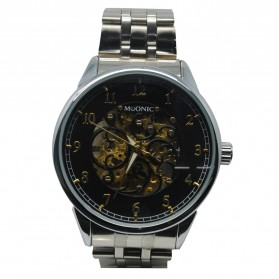 ESS Jam Tangan Mechanical - WM477/478 - Black/Silver - 2
