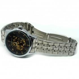 ESS Jam Tangan Mechanical - WM477/478 - Black/Silver - 3
