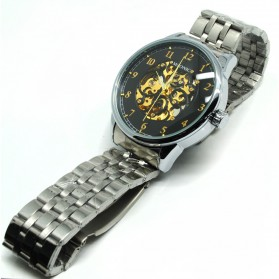 ESS Jam Tangan Mechanical - WM477/478 - Black/Silver - 4