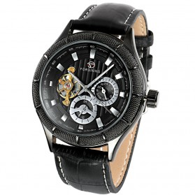 ESS Jam Tangan Mechanical - WM457/458 - Black/Black