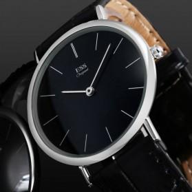 ESS Jam Tangan Analog Pria Luxury Men Leather Strap - WM513/481 - Black - 2