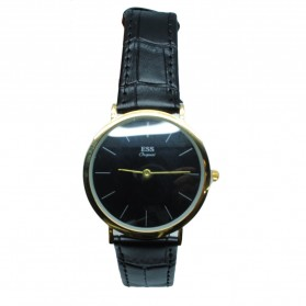 ESS Jam Tangan Analog Pria Luxury Men Leather Strap - WM513/481 - Golden