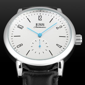 ESS Jam Tangan Mechanical Automatic Leather Strap - WM573/591/592 - Black - 6