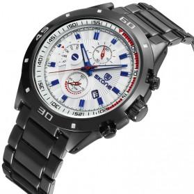 SKONE Casio Man Fashion Watch Water Resistant 30m - 7386BG - White/Black - 6