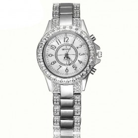 WEIQIN Casual Woman Stainless Steel Watch Water Resistant 10m - W4334 - Silver