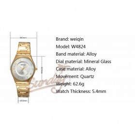 WEIQIN Woman Fashion Watch Water Resistant 30m - W4824 - Silver - 5