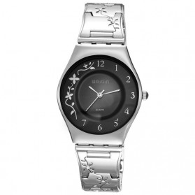 WEIQIN Woman Fashion Watch Water Resistant 30m - W4824 - Silver Black