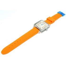 Weiqin Jam Tangan Wanita Kotak Elegant - wei49505152 - Orange - 2