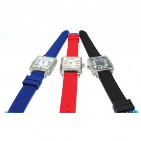 Weiqin Jam Tangan Wanita Kotak Elegant - wei49505152 - Blue - 2
