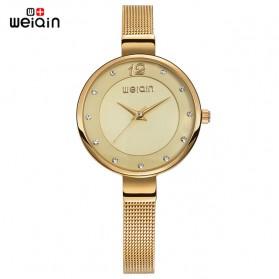 Weiqin Jam Tangan Kasual Wanita - Wei070809 - Golden - 1