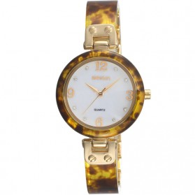 Weiqin Jam Tangan Analog Wanita - wei3940 - Brown/Gold