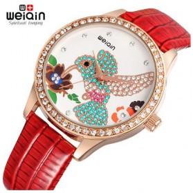 Weiqin Jam Tangan Wanita Hummingbird Dial Rhinestone - wei5960 - Red - 1