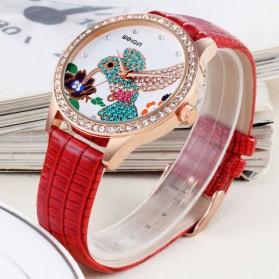 Weiqin Jam Tangan Wanita Hummingbird Dial Rhinestone - wei5960 - Red - 3