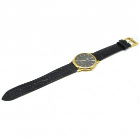 Ousion Quartz Men Leather Band Fashion Watch - OL327G - Black