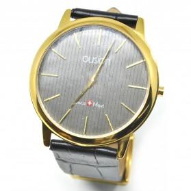 Ousion Quartz Men Leather Band Fashion Watch - OL327G - Black - 2