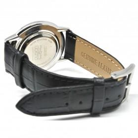 Ousion Quartz Men Leather Band Fashion Watch - OL327G - Black - 3