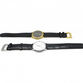 Ousion Quartz Men Leather Band Fashion Watch - OL327G - Black - 4