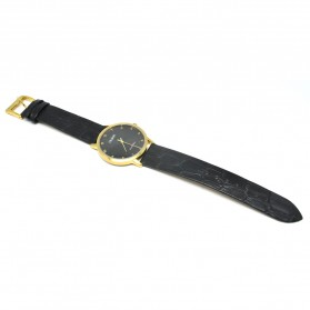 Ousion Quartz Men Leather Band Fashion Watch - OS311G - Black